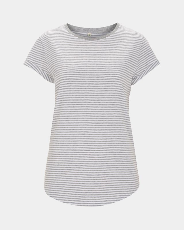 White and mel grey striped