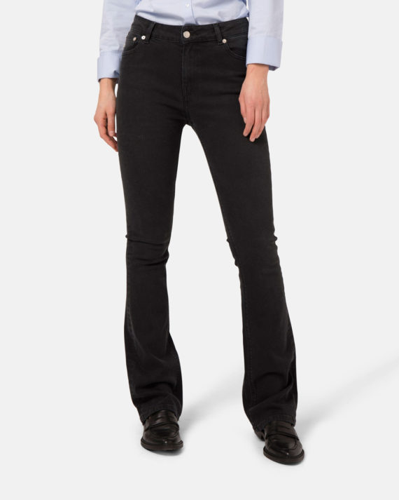 Woman-Sustainable-Jeans-Flared-Hazen-Stone-Black-halffront-2-1