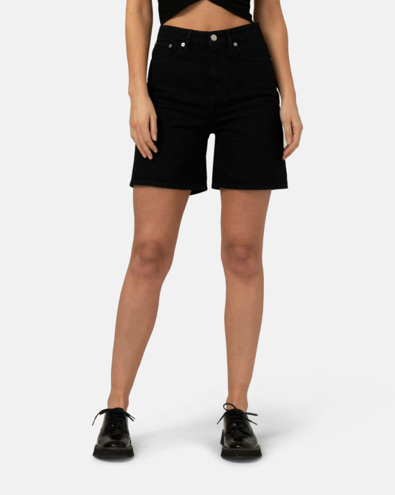 Woman-Sustainable-Jeans-Beverly-Shorts-Dip-Black-halffront-1