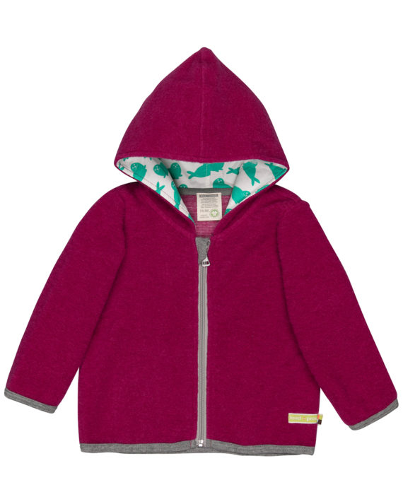 3063-az-rt mørk rosa fleece jakke